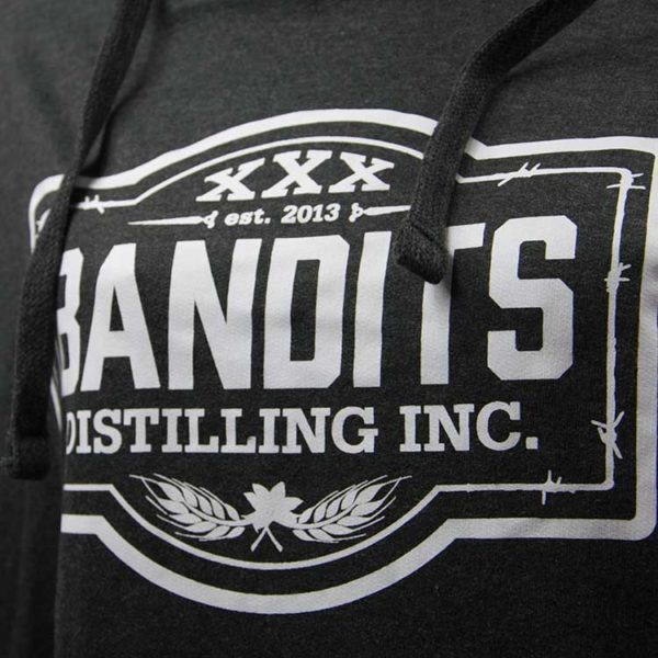 Bandits Distillery Hoodie Dark Strings Front