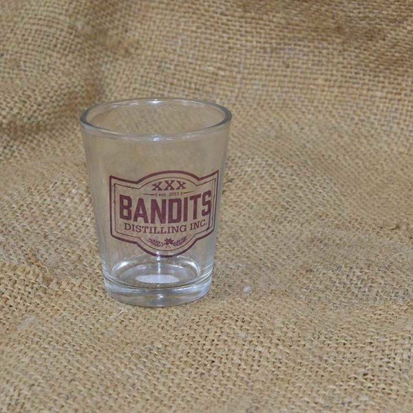 Bandits Distillery Shot Glass