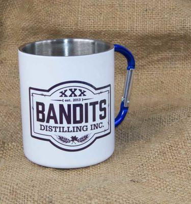 Bandits Distillery Tin Carabiner Mug
